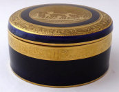 Cobalt box, gold-plated relief - Anton Weidl, Carlsbad