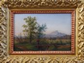 Edward Eberhardt - Romantic landscape with a woman figure