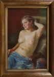 Frantisek Antonin Jelinek - Girl's nude in a chair