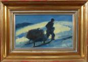 Alois Moravec - A man pulling a sleigh