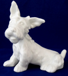 White porcelain terrier, with a ribbon - Schlaggenwald