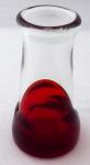 Glass vase - Rene Roubicek, Skrdlovice 1972