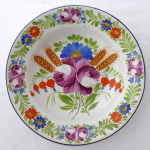 Plate with Chod flower pattern - Frantisek Mica, Klenci