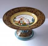 Ceramic decorative bowl, on stem - Rudolf Ditmar