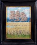 Antonin Bilek - Cereal field with deciduous trees
