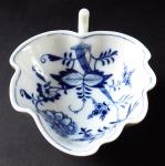 Meissen bowl, leaf, onion pattern