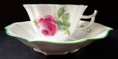 Meissen cup with roses and buds, diamond shape