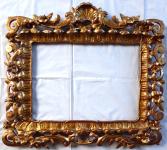 Baroque type frame, carved