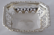 Small silver-plated bowl, square - EPNS