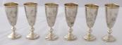 Six silver goblets - V. T. Sokolov, Russia 1899 - 1908