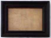 Rectangular photo stand, dark brown wood