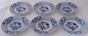 Six plates, onion pattern - Meissen, Teichert