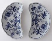 Two bowls, onion pattern - Teichert, Meissen