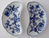 Two kidney-shaped bowls - Meissen, Teichert