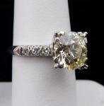 Platinum ring - Champagne diamond 3,10 ct