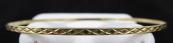 Gold engraved narrow bracelet - circle