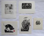 Anna Grmelova - Five ex libris ( 2x K. Zizkovsky, Sphinx )