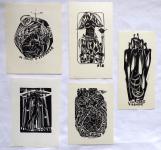 Anna Grmelova - Five ex libris