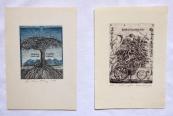 Dusan Kallay - Two ex libris