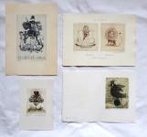 Emilie Tomanova - 3 x Ex libris, PF 1978