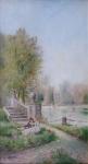 Leopold Burger - Romantic meeting in the castle park