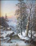 Frantisek Skala - Winter romantic landscape
