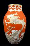 Chinese dragon vase - Rosenthal, Decor Rosenthal Rot