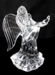 Glass statue of angel, crystal glass