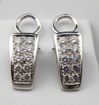 White gold earrings with brilliant cut diamonds 1,0 ct