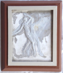Relief of a naked girl with a boy - Josef Drahonovsky