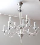 Crystal cut glass chandelier