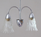 Two-arm chandelier with shades
