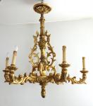 Gilded carved wooden chandelier