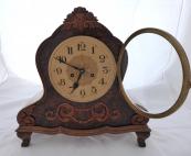 Table clock, baroque style - Gustav Becker
