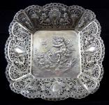 Silver decorative bowl with figural scene - Christoph Widmann, Pforzheim