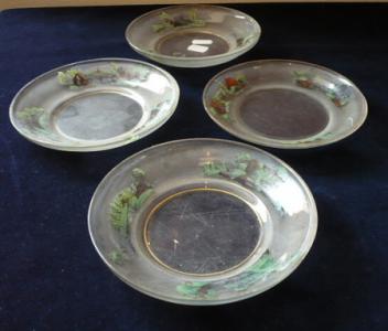 Skleněné malované talířky