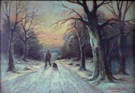 Alois Procházka - Hajný se psem (2).JPG