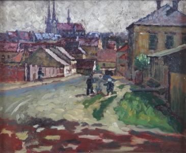 Alois Srnský - Městská scenérie (2).JPG