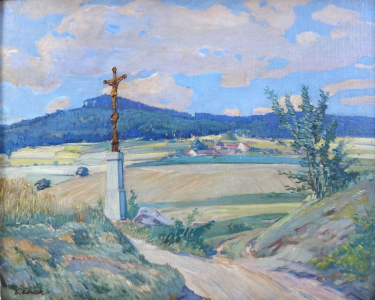 Fr. Částek - Krajina s cestou a božími mukami (2).JPG