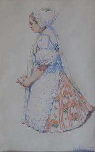 Rudolf Livora - Klečící žena v kroji (2).JPG