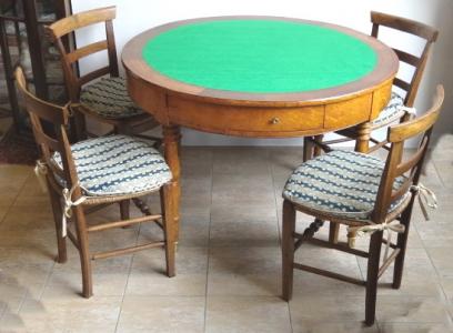 Stůl a čtyři vyplétané židle, s mramorovou deskou (1).JPG