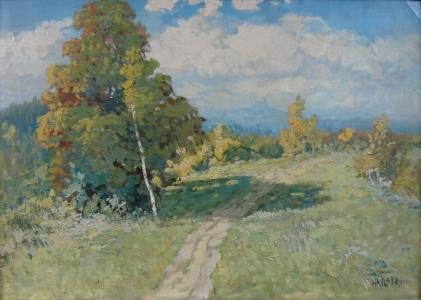 Karel Havlata - Krajina s hradem, Trosky (2).JPG
