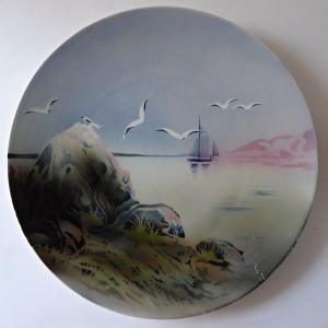 Závěsný talíř s plachetnicí a racky - Walerfangen, Villeroy & Boch (1).JPG